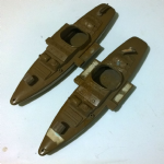 Action Force  vintage palitoy early brown canoe boat x2 @sold@